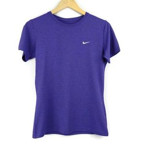 Nike Dri Fit Fitted Athletic Tee Purple Size Small
